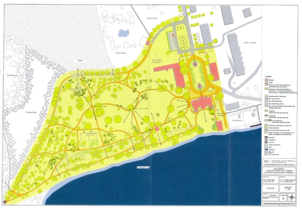 Karte: Park Klein Trebbow - Konzept