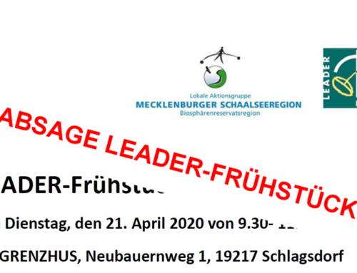 Absage LEADER-Frühstück